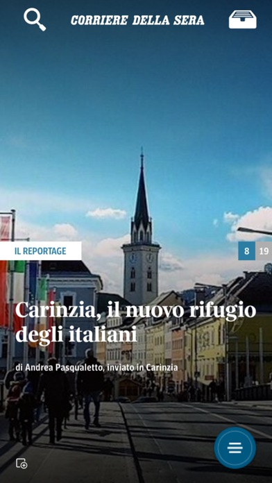 Screenshot of Corriere UP1