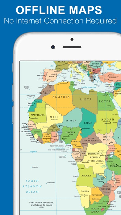 World Map FREE On The App Store - Us map with world map in the corner
