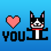 Boston Terrier Dog Pixel Sticker Wiki