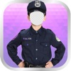 Kids Police Uniform Photo Montage