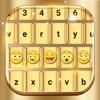Gold Emoji Keyboard Changer Themes Fonts & Skins
