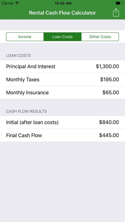 Rental Cash Flow Calculator by Daniel Simons
