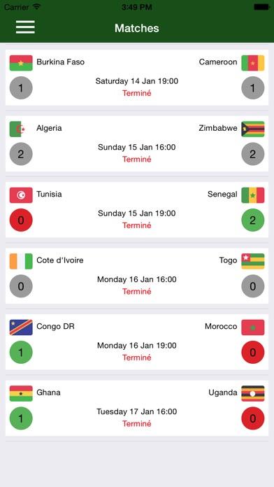 Coupe Africa 2017Capture d'écran de 2