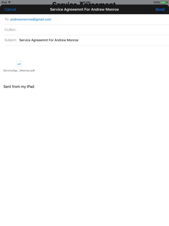 Simple Service Agreement On The App Store
