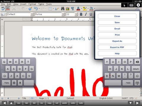 Docs U -Editor for Microsoft Office Documents Free screenshot 2