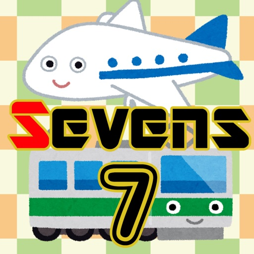 Vehicle Sevens (Playing card game) iOS App