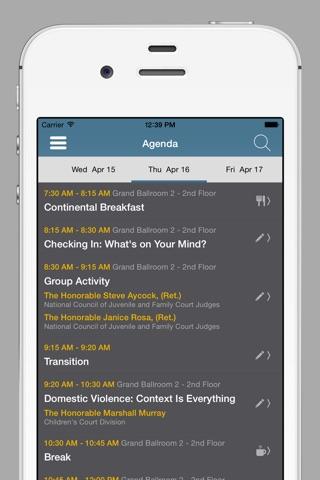NCJFCJ Conferences screenshot 3