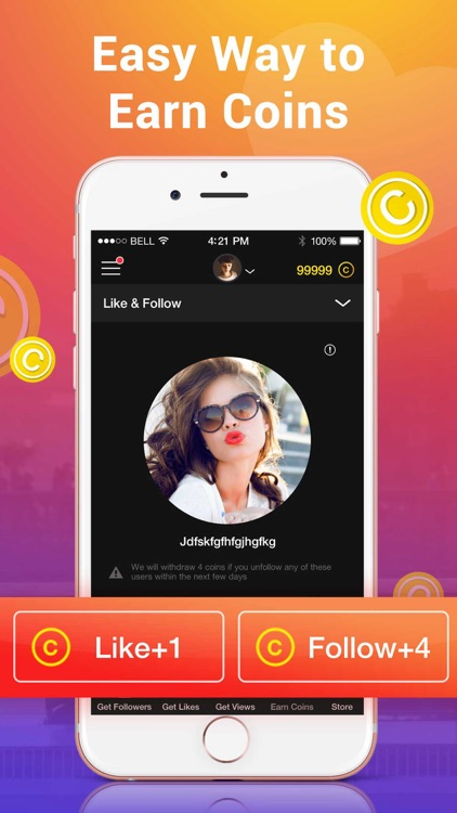 1000 Followers & likes for Instagram - Free Likes by Alpha App