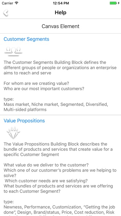 Business Canvas - build your business model Screenshots