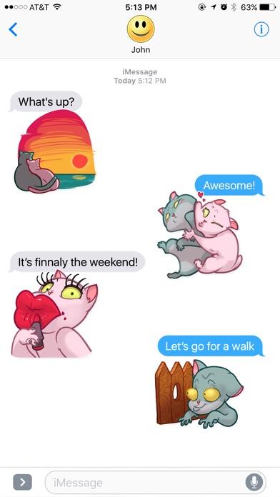 Два Забавных Кота СтикерыСкриншоты 3