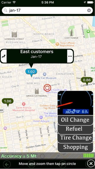Parking+GPS Locations Screenshot