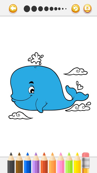 Toddler Games Dolphin Underwater Coloring Page On The App Store