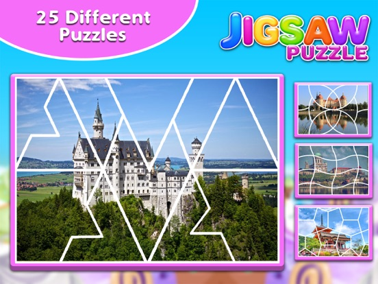 Screenshot #2 for Princess Castle Jigsaw Puzzle - Jiggy Puzzle Pack