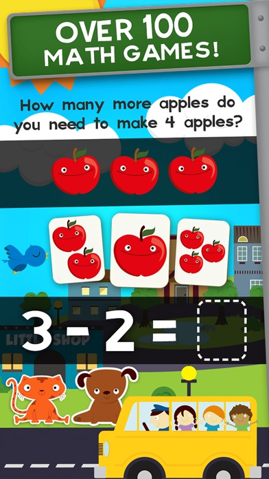 Screenshot #6 for Animal Math Kindergarten Games
