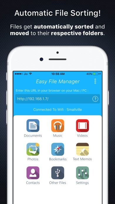 Easy File Manager & Explorer for Wifi Transfers Screenshots