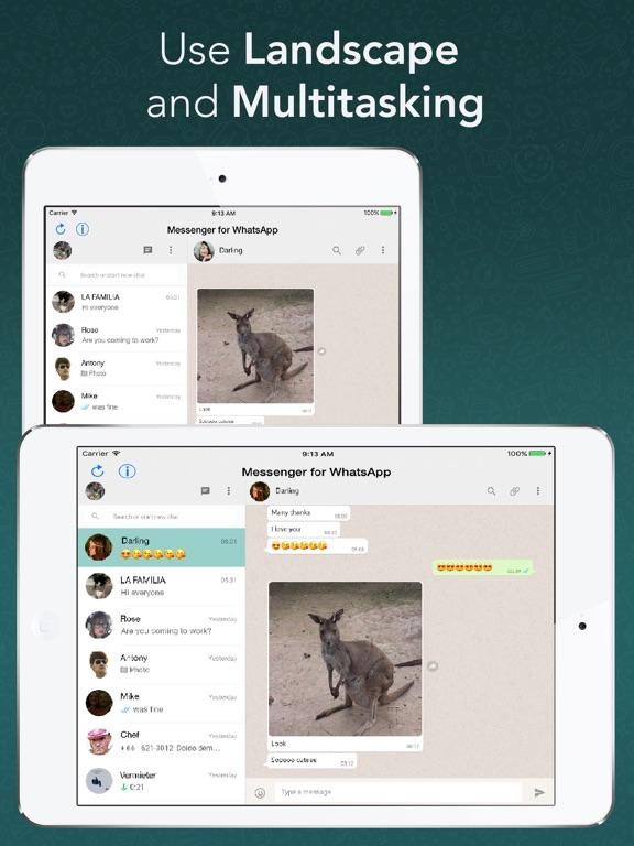 Screenshot #4 for Messenger for WhatsApp - App for iPad