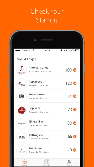 Stamps Loyalty App iPhone