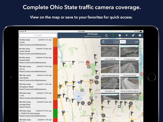 Ohio Roads Traffic Reports Cameras On The App Store - Us road map for ipad