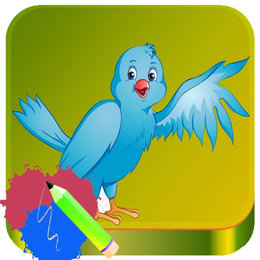 Angry Bird Animals Coloring Book Painting Kids iOS App