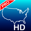 Aqua Map USA HD Pro - GPS Offline Nautical Charts