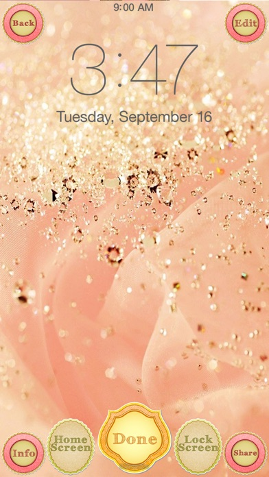 Rose Gold Wallpaper And Glitter Backgrounds HD Screenshot On IOS