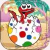 恐龙着色书 動物 遊戲 染色 兒童 教育