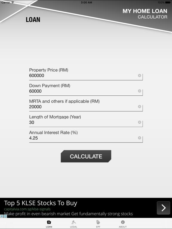 loan calculator for home