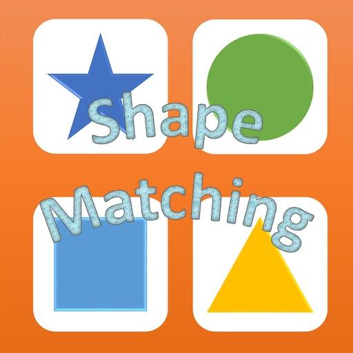 Geometric shapes matching game preschoolers math iOS App