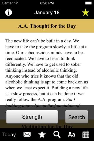 Twenty-Four Hours a Day: Recovery Meditations screenshot 3