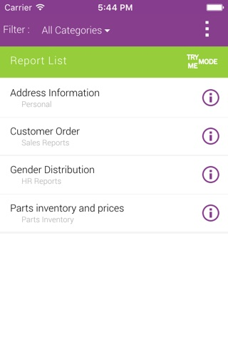 IFS Quick Reports screenshot 1