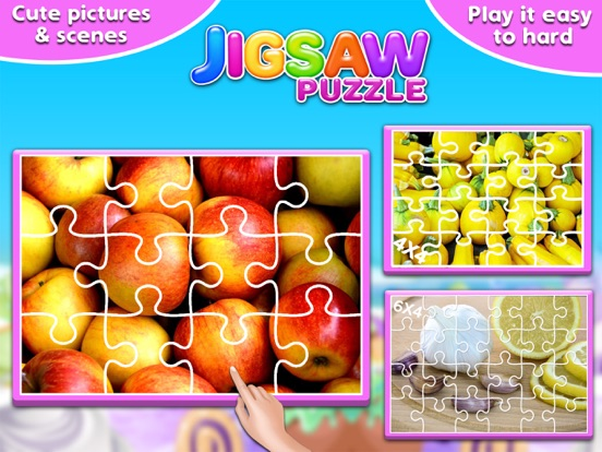 Screenshot #1 for Fruits & Vegetables Jigsaw Puzzle - Fun With Foods