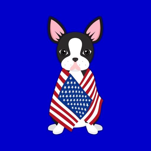 Black Boston Terrier Emoji Stickers for iMessage