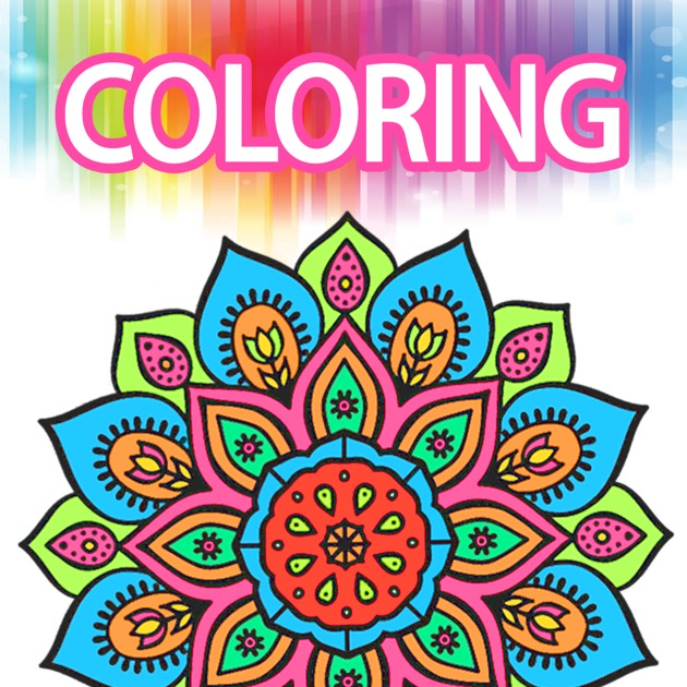 Coloring book for adults mandala color therapy on the app Coloring book for adults app