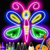 Peinture Enfant: Dessin néon pour enfant