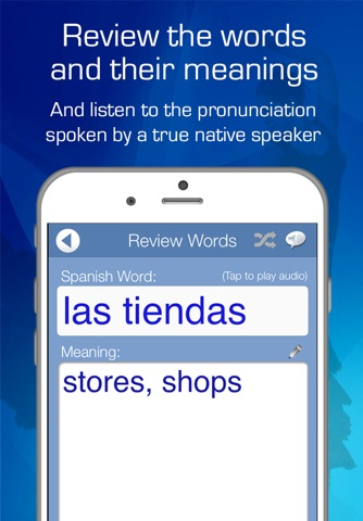 Learn Spanish Audio FlashCards screenshot 3