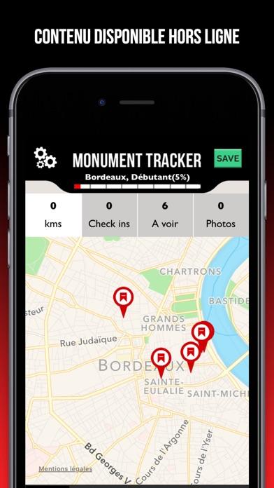 Paris guide voyage Monument Tracker carte offlineCapture d'écran de 2