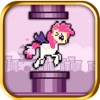 A Flappy Unicorn - Little Pink Pony Adventure