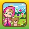Mathematics game learning for masha and the bear