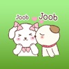 The Happy Couple Puppies English Stickers