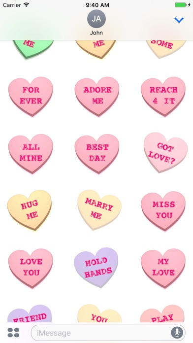 Screenshot #10 for Conversation Hearts XOXO