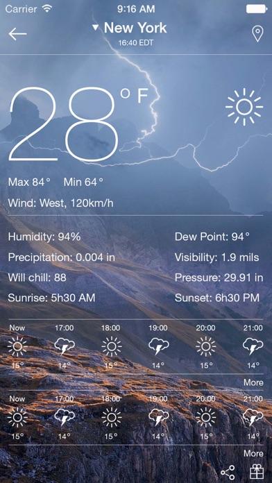 Погода - прогноз погоды на сегодня, завтра, неделюСкриншоты 3