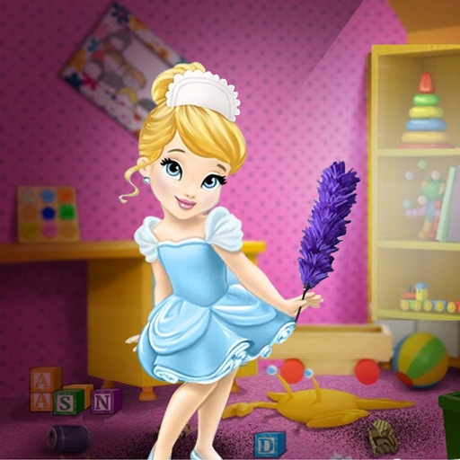 Cleaning-clean the messy room games for girls iOS App