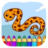 Kids Game Coloring Book Snake Page Version