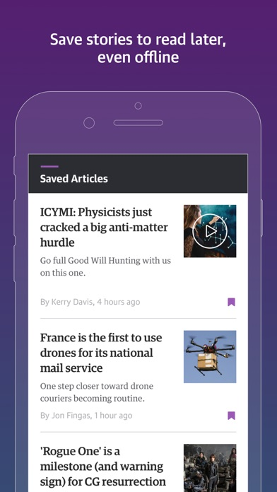 Screenshot 3 for Engadget's iPhone app'