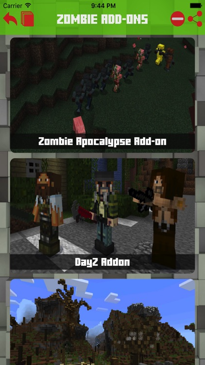 Zombie Addons Maps for Minecraft PE Pocket Edition by Hoang Yen
