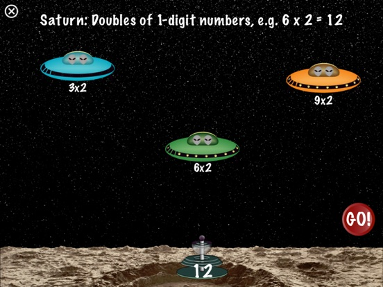 Arithmetic Invaders: Grade 2 Math Facts Screenshot