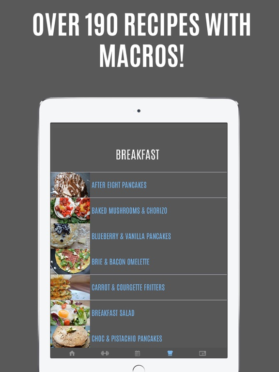 Screenshot #3 for Gymster - Gym Workouts & IIFYM Diet Meal Recipes
