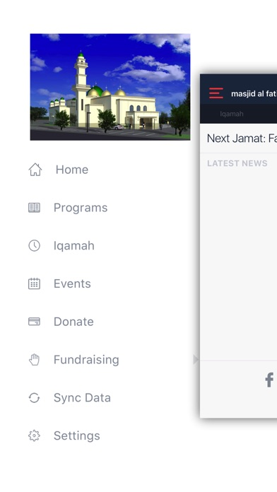 Screenshot of Masjid Al-Fatima App