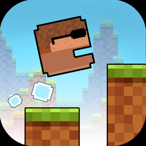 Pixelate Blocky Man Run