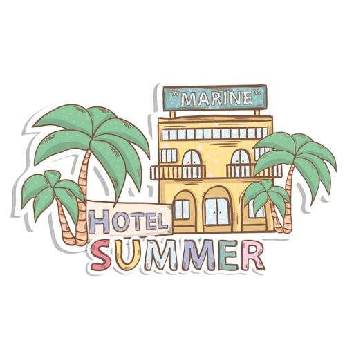 Summer & Travel Doodle Stickers Set
